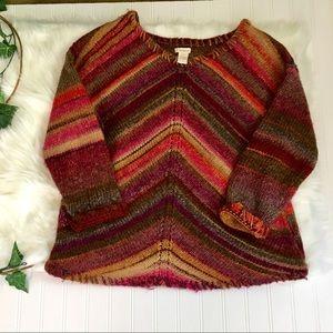 Sundance Sweaters - Sundance Boho Striped Knit Sweater Size Small